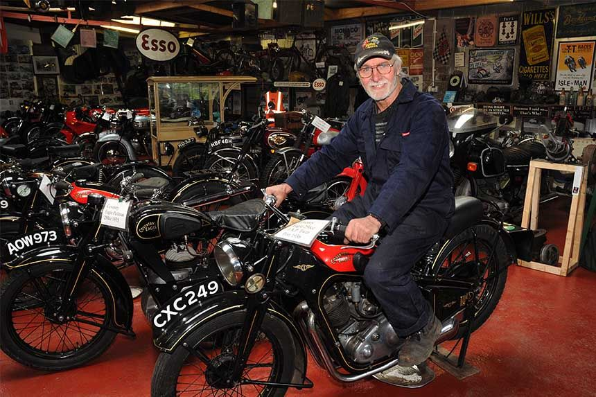 Bikers Race to Check Out Motorbike Mike's Collection