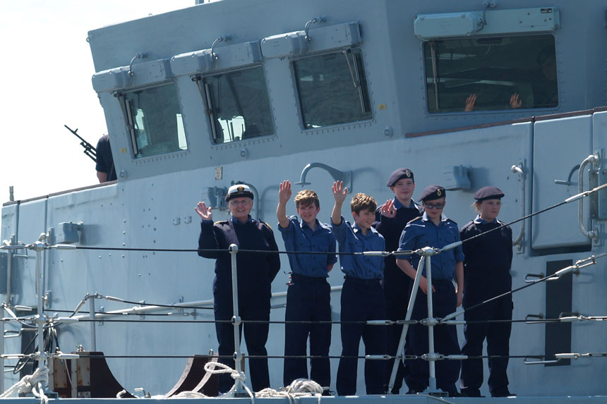 Whitehaven Sea Cadets in action