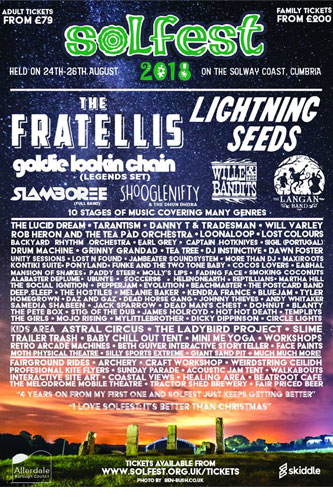 Lightning Seeds headlining Solfest