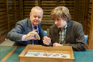 Ian Hislop and his British Museum Co-curator Tom Hockenhull