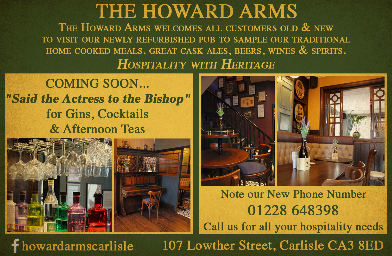 Howard Arms Advert
